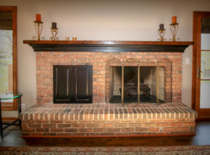 Refurbished Brick Fireplace