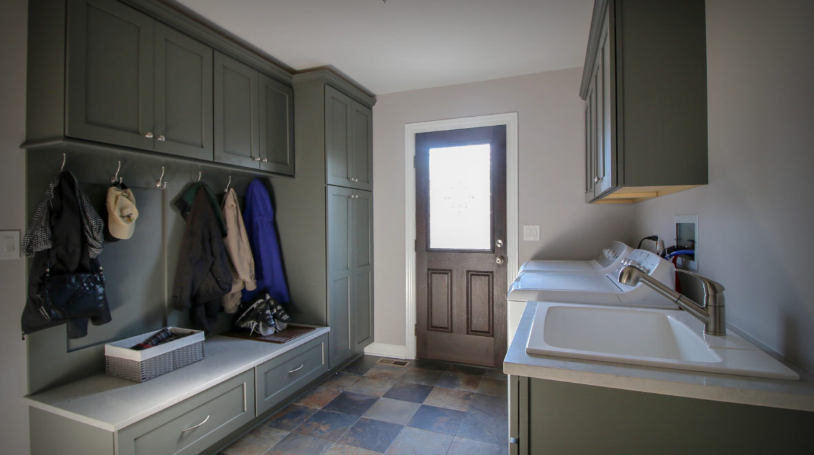 Laundry Room and Mudroom with Storage