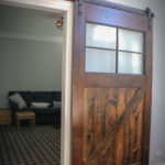Custom Barn Door made with Reclaimed Timbers