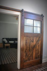 Custom Barn Door made with Reclaimed Timbers