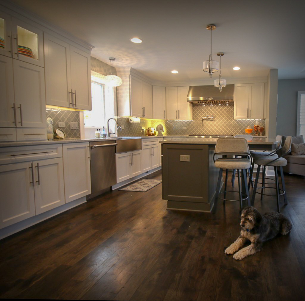 Custom Kitchen Remodel with Wood Floors