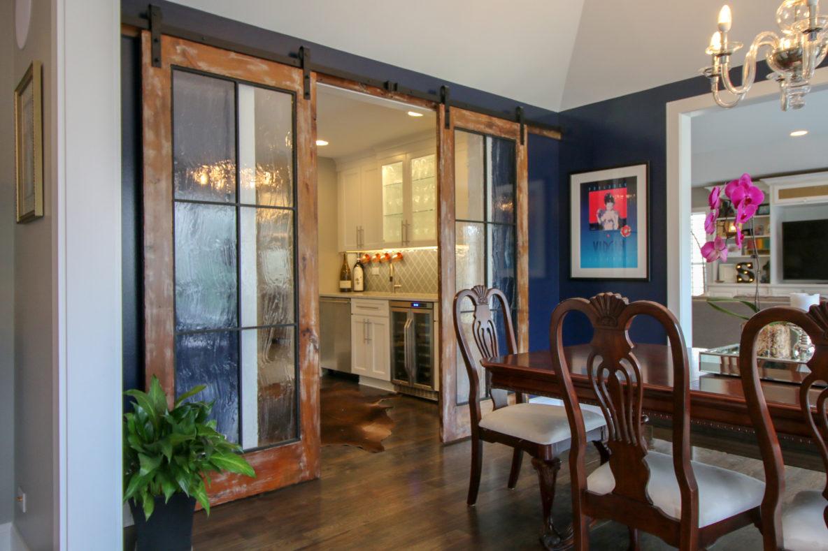 Custom Glass Barnwood Doors