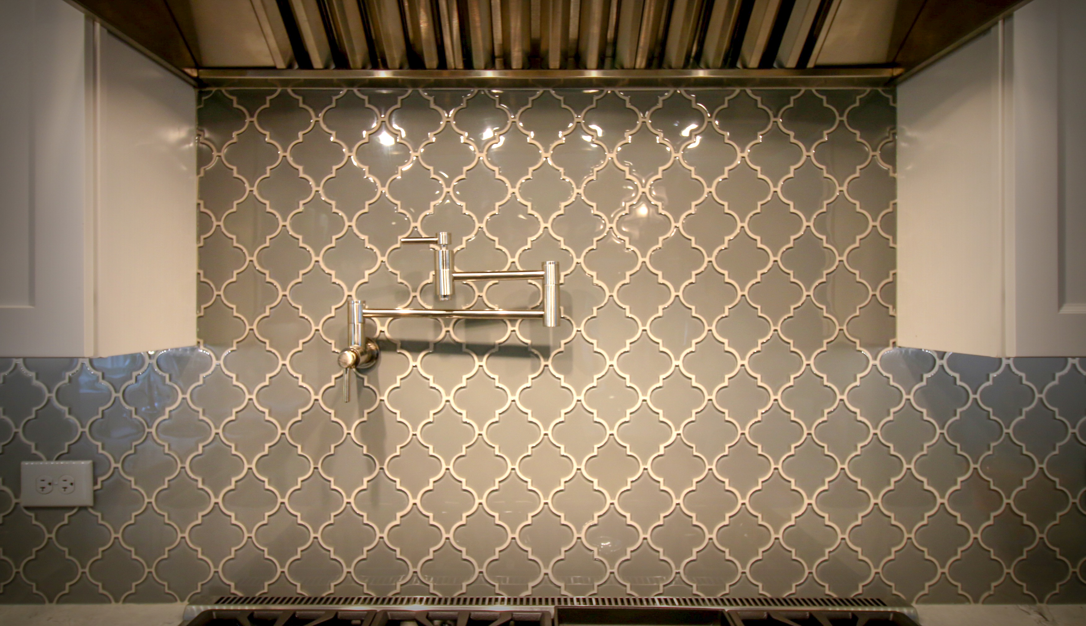 Decorative Tile Backsplash with Pot Filler