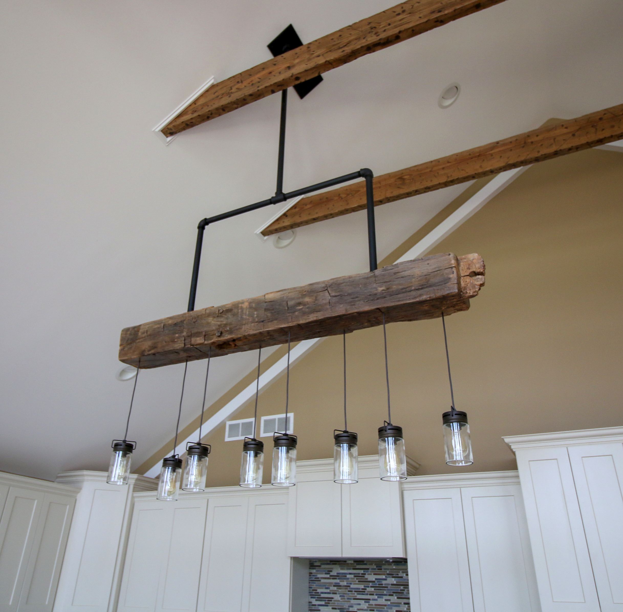 Custom Light Fixture from Reclaimed Beam