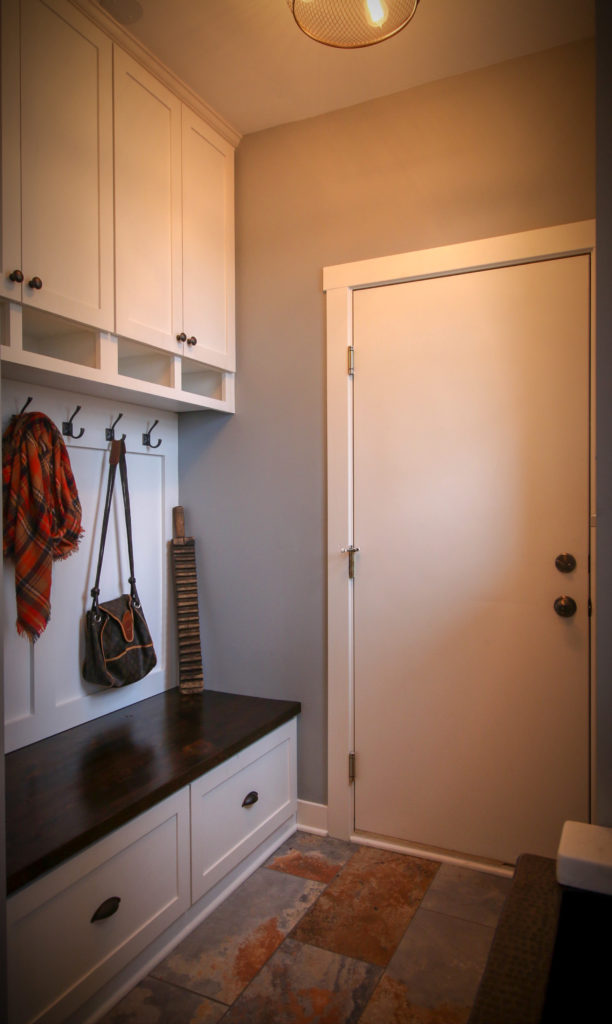 Mudroom with Custom Storage Bench