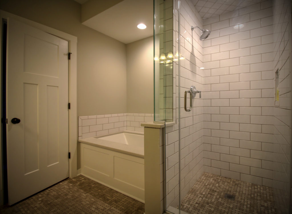 Bathroom Upgrade With Subway Tile Shower