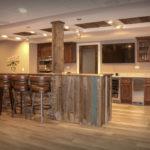 Basement Bar with Barnwood Siding