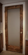 Custom Door with Reclaimed Timbers