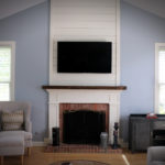 Simple, yet Elegant Fireplace with Shiplap