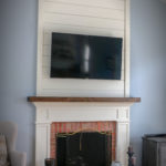 Fireplace with Shiplap and Mantle