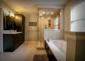 Bathroom Upgrade With Custom Tub Platform