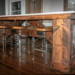Custom Kitchen Island with Reclaimed Timbers