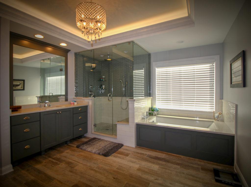 Custom Bathroom Remodel with Tray Ceiling