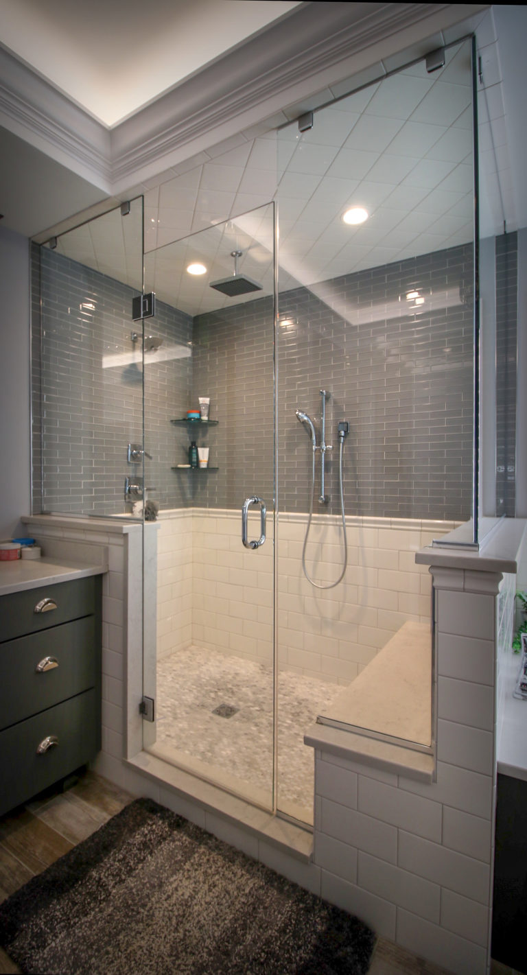 Multiple Shower Head Custom Bathroom Remodel