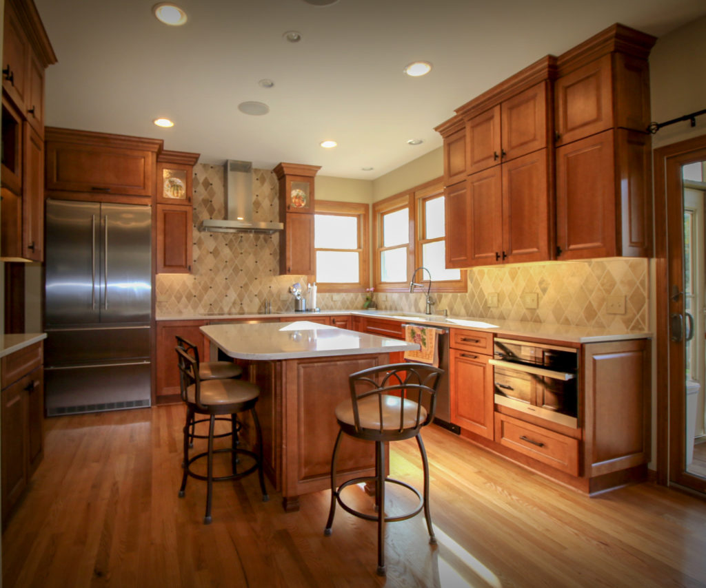 Kitchen Update with Ceiling Height Cabinets