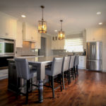 Large Eat-in Grey Kitchen Island