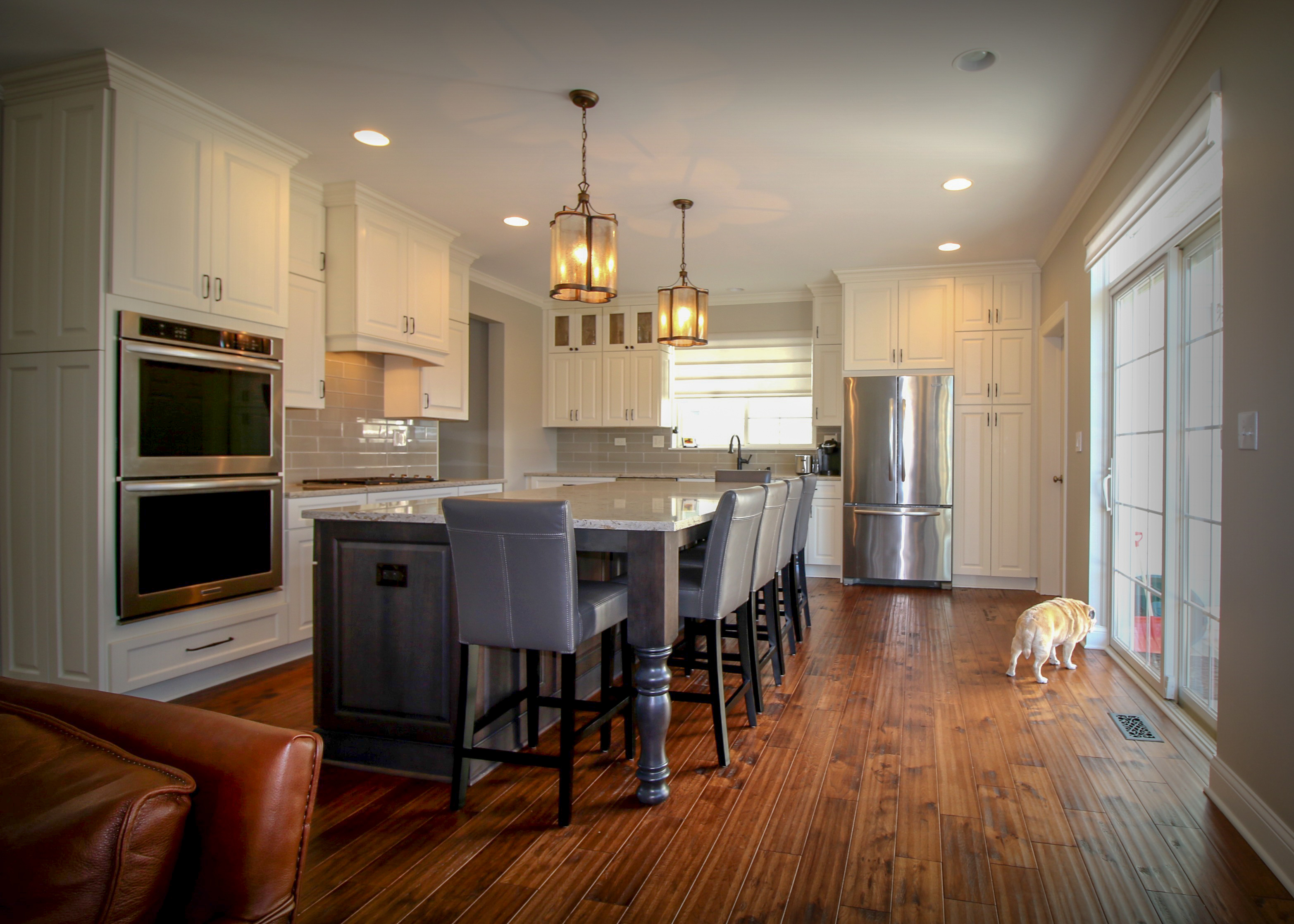 Updated Kitchen with Distinctive Large Island