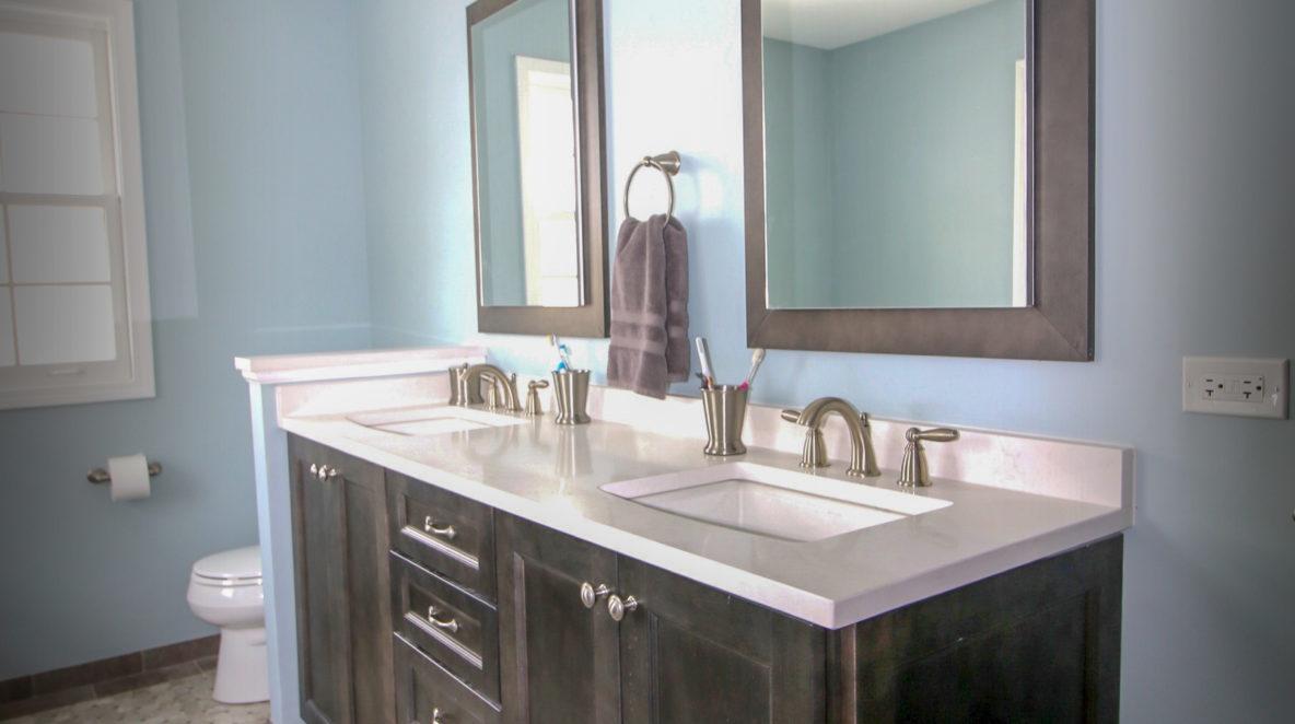 Double Vanity Bathroom Update