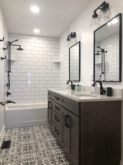 Modern Farmhouse Paired with Matte Black Finishes and Kodiak Vanities