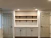 Shiplap Wall Accent Wall with Chunky Wood Shelves