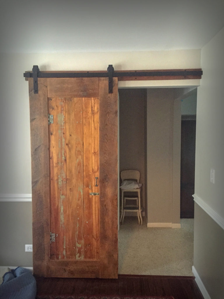 Rustic Custom Barn Door from Reclaimed Timbers