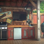 Rustic Outdoor Kitchen made with Barn Timbers