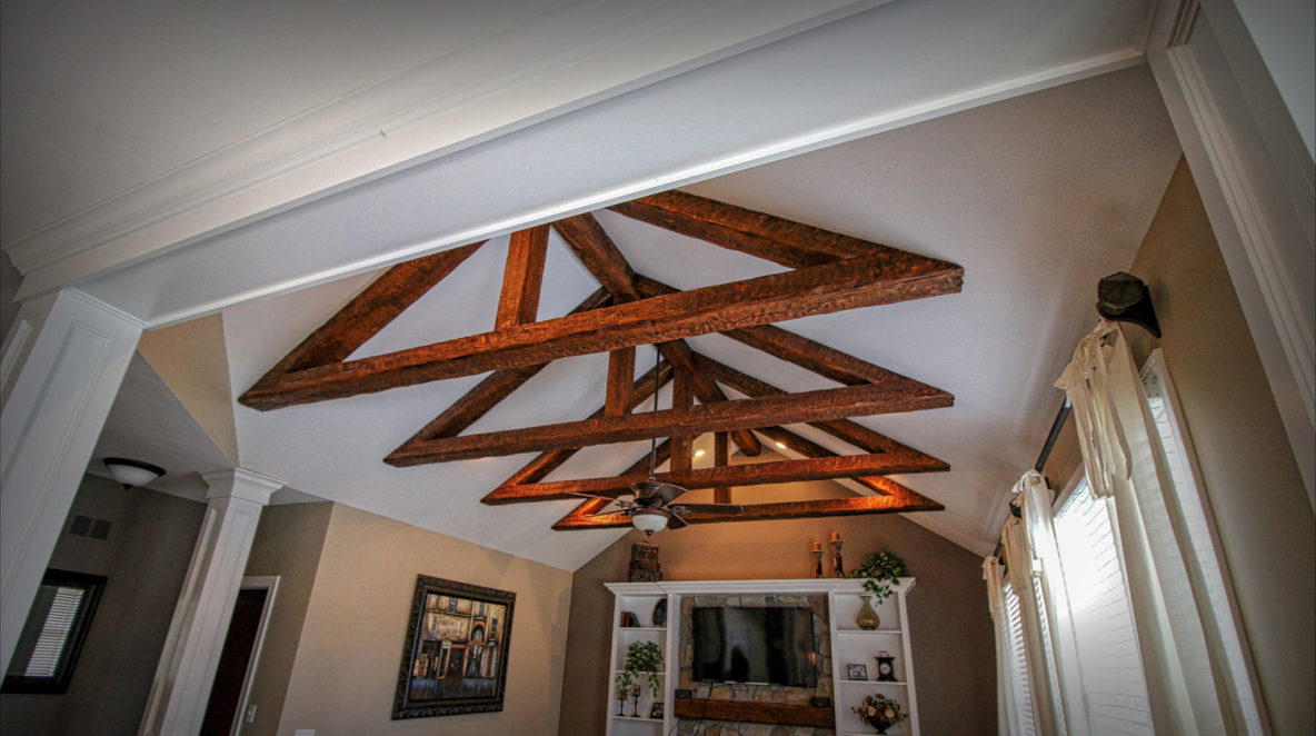 Reclaimed Beams on Ceiling