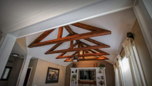 Reclaimed Beams on Ceiling